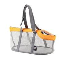 Summer Dog Bag Cat Single Shoulder Bags Portable Four Sides Mesh surface Breathable Pet Carrier Handbag Travel Puppy Kitten Bags