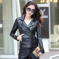 Women's Leather & Faux Size Plus Spring Female Coat Autumn PU Motorcycle Jacket Outerwear