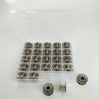 25pcs bobine de ménage métal argent couture machine Bobbins bobines de noyau de noyau multifonctions vêtements de vêtements