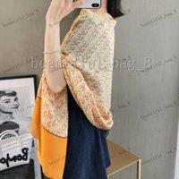New Fashion Brand Womens Senior Long Layer Layer Chiffon Scialli di seta turismo di moda Designer morbido Sciarpe di lusso Sciarpa di stampa