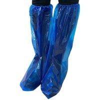 20 أزواج واقية عالية أعلى للجنسين المطر pp غطاء الأحذية المضادة للانزلاق للماء التمهيد الغبار مقاومة المتاح اللون الأزرق DSF424