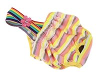 Подгузники для собак Моющиеся женские физиологические брюки для домашних животных нижнее белье Щенок пеленки многоразовые собаки подгузники моющиеся санитарные обертывания 463 v2