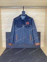 21SS Man Designer Denim Giacche Dobby Vestiti Jacquard Weave Mens Cappotti Cappotti Capispalla Capispalla con cappuccio Abbigliamento Cotton Black Blue 05