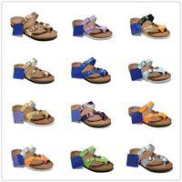 Mayari 805 애리조나 Gizeh 2019 뜨거운 판매 여름 남성 여성 아파트 샌들 코르크 슬리퍼 유니섹스 캐주얼 신발 인쇄 혼합 색상 크기 US3-15