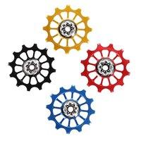 دراجة ناريهايلز chainwheels دراجة 12 طن إيجابي سلبي عجلة الأسنان الخلفية derailleur دليل بكرة السيراميك تحمل جودة عالية