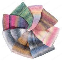 Fashion Tie Dye Beanies Hats for Women Wool Knitted Winter Warm Cap Men Hip Hop Caps Outdoor Bonnet Casual Hat