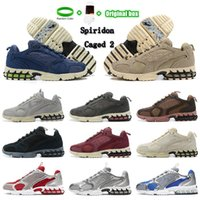 2021 Yüksek Kalite Zoom Spiridon Kafesli 2 Koşu Ayakkabıları Parça Kırmızı Bej Moda Fosil Renk erkek Spor Eğitmenler Kadın Sneakers CU1854-200