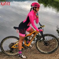 Racing Sets Kafit 2021 Professional Bicycle Cycling Suit Long-sleeved Mountain Bike Ladies Sexy Jumpsuit Jersey