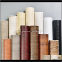 Wallpapers Décor & Gardenpractical Furniture Diy Decor Pvc Self Adhesive Wood Wallpaper Home Renovation Sticker Cabinet Table Waterproof Fil
