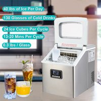 Household Bar Ice Maker Coolers Buckets Stainless Steel Food Machine Kitchen Refrigeration Tools HZB-18F 120W 40Lbs 115V 60Hz