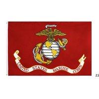 Vereinigte Staaten Marine Corps Flagge doppelte Nähte Hohe Qualität US-amerikanische Flaggen Banner Gartenbedarf 90 * 150cm HWA6071