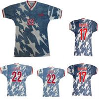 94 American Away Fútbol Jersey 1994 Lalas Jones Sombrero Balboa Pérez Vintage Clásico Viejas Camisas de fútbol adulto