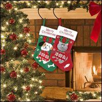 Natal festivo festivo suprimentos gardenchristmas decorações presentes de meia saco decoração alegre para o ano em casa Navidad Decor de árvore navio1 Dr.