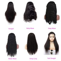 Brazilian Human Hair 13X4 Lace Front Wigs Deep Wave Kinky Curly Straight Body Wave 14-32inch Wig Wholesale Natural Color