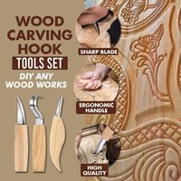 Wood Carving Hook Tools Set Woodworking Cutter Hand Tool High Strength Whittling Carpenter Stocked Craft