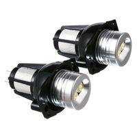 Car Headlights LED Angel Eye Halo Ring 2Pcs 20W Lamp Bulbs For E90 E91 05-08 Bulb Auto Fog Headlamps Accessories