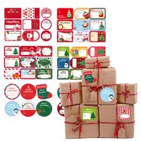 Christmas Gift Wrap Sticker Old Man Snowman Christmas Gifts Box Packaging Stickers Xmas Party Decoration 13*18cm GWA8621