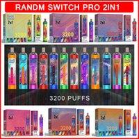 RGB Light monouso E Cigarette Randm Switch Pro 2in1 VAPE Penny Dispositivo 3200 Pulves Sigarette elettroniche 650mAh Batteria 10ml cartucce di pods