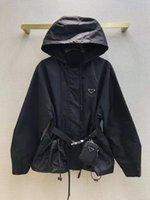 Damen Designerjacke mit Kapuze Mode Massive Farbe Windjacke Casual Damen Mantel Kleidung S-L