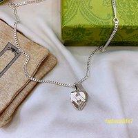 Collar Collares de corazón con diseñadores Letra clásica Joyería de marca comercial 925 Sterling Silver Luxurys Colgante elegante Charm Top Calidad Fábrica al por mayor Price