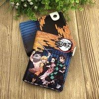 Anime Demon Slayer: Kimetsu No Yaiba Synthetische Leder Brieftasche Kamado Tanjirou Nezuko Kurze Geldbörse