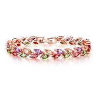 Bracelet Designer Rings Designers Necklace jewelry fashion colorful crystal willow leaf COPPER Zircon wholesale