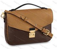 Alta Qualidade Designer Sacos de Ombro Pochette Metis Bobby Genuine Black Black Leather Couro M41565