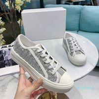 Top Quality Luxurys desginters Sapatos de lona andando Mulheres Sneaker Branco Oblique Técnico Malha Mulher Sneakers Plataforma Clássica Sapatos de Plataforma Treinadores