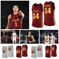 NCAA College Loyola Chicago Ramblers Basketball Jersey 45 Alcock 5 Clemon Marques Townes 50 Jalon Pipkins 64 Sœur Jean 98 sur mesure