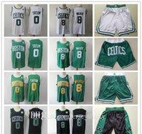Herren bostoncelticsthrowback jersey kemba 8 walker jayson 0 tatum basketball shorts basketball jersey grün weiß schwarz atmungsaktiv (