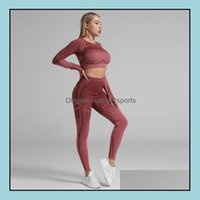 Clothing Exercise Wear Athletic Outdoor Apparel Sports & Outdoors2021 Body Scpting Waist Seamless Yoga Set Gym Fitness Leggings Hollow Out C