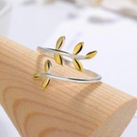 Classic Olive Leaf Adjustable Ring Real 925 Sterling Silver For Women Birthday Party Fine Jewelry Accessories Gift Bijoux 851 T2