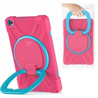 Portable case Extreme Heavy Duty 360° rotation silicone shockproof tablet for ipad 10.2 7 mini45 newipad 9.7 pro air 1 2 samung T510 T500 T290 P610 T870 protector cover