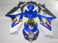 Injecton Fairing kits Free Custom Cowlings Fairings kit for SUZUKI White Blue Black GSXR1000 GSXR 1000 Bodywork 2007 2008 Motorcycle Aftermarket body parts 07 08