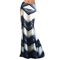 Skirts 2021 Spring Summer Skirt Women Package Hip Sexy Striped Maxi Nightclub Party Slim Long Large Size