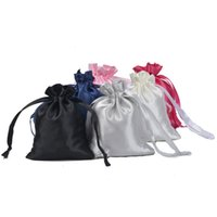 10pcs / set Silk Satin Jewelry Bolsas Bolsa de cordón con cinta Lipgloss Cosmetics Almacenamiento Custom 1752 Q2