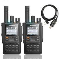 Walkie Talkie 2PCS ABBREE AR-F8 GPS موقع تبادل جميع النطاقات (136-520MHz) التردد / CTCSS الكشف 1.77 LCD 999CH المحمولة
