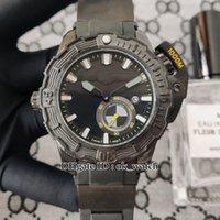 Alta Qualidade Deep Dive 3203-500le-3 / Preto-OMW Mens Automático Assista Black Dial 43mm Gents Sport Watches Strap 4 Cores