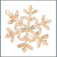 & Barrettes Jewelrywomen Girls Clips Snowflake Hairclip Hairpin Hair Cuff Clip Jewelry Aessories 12Pcs Christmas Gift Drop Delivery 2021 Nkw