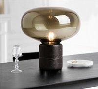 Postmodern Luxury LED glass Table lamps Nordic Marble living room decor lighting bedroom Bedside Study reading desk lights