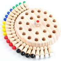 Niños Educativos Juguetes de Madera Memoria Match Stick Chess Game Fun Block Board juego Color Capacidad cognitiva Juguete para niños 210607