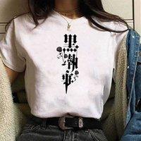 뜨거운 애니메이션 블랙 버틀러 티셔츠 O- 목 루스 캐주얼 패션 천으로 여자 x0712