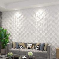 Art3D 50x50cm 3D 벽 패널 방음 스티커 자체 접착제 연동 동그라미 흰색 인테리어 천장 및 주거 또는 상업용 (12 타일) 용 홈 장식