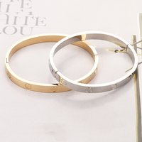 Necklace Logo Screw Bracelet Women Stainless Steel Gold Bangle Can Be Opened Couple Simple Jewelry Gifts For Woman Accessories Wholesal Bmup