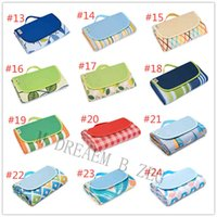 Carpets 24 Designs folding blanket 145*200cm moistureproof picnic pad portable junket rug carpets tent camping dinner cloth beach mat GPHO
