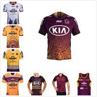 2021 Brisbane Broncos Jersey de rugby Anzac 20 21 Men Jersey Indigenous Australie Taille de la Ligue NRL S-3XL