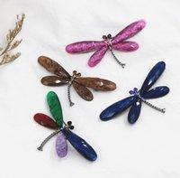 8 Renkler Retro Böcek Broş Reçine Akrilik Broşlar Alaşım Rhinestone Pins Takı Aksesuarları Elektrolizle Yusufçuk