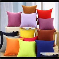 Bedding Supplies Textiles Home & Garden Drop Delivery 2021 Pillowcase Pure Color Polyester White Cushion Cover Pillow Case Blank Christmas De