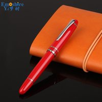Ballpoint Pens Metal China Red Roller Ball Pen Luxury Fountain Brand Stationery For Custom Weeding Gifts Drop P803
