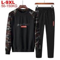 Sweatsuit Male Sweatshirt Sweatpants Set Plus Size 9xl 8xl 7xl 6xl 5xl Men Camouflage Sports Suit Mens Tracksuit Camo 2 Pieces